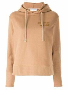 Ih Nom Uh Nit logo detail hoodie - Brown