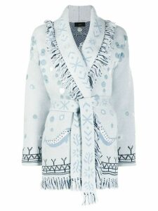 Alanui Sedna Goddess jacquard cardigan - Blue