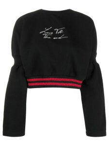 Marcelo Burlon County Of Milan Love til the end sweatshirt - Black