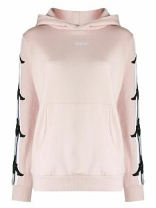 Kappa logo lined hoodie - PINK