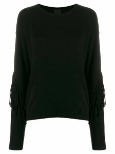 Pinko fringed trim jumper - Black