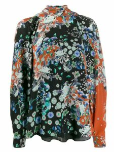 Givenchy floral turtle neck blouse - Red