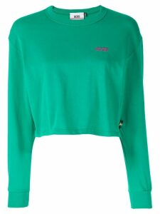 Gcds cropped long-sleeved T-shirt - Green