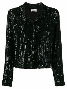 P.A.R.O.S.H. Goody sequined shirt jacket - Black