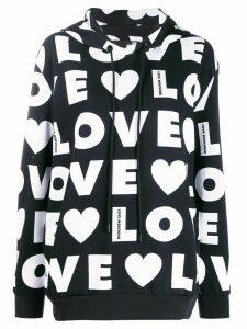 Love Moschino logo print sweatshirt - Black