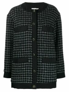 Sandro Paris tweed embroidered cardigan - Blue