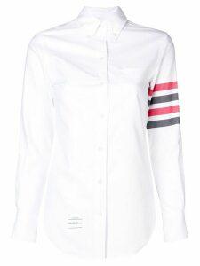 Thom Browne striped sleeve shirt - White