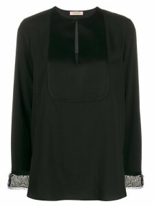Twin-Set mother of pearl embellished blouse - Black
