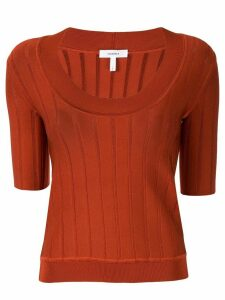 Casasola short-sleeved knitted top - Red
