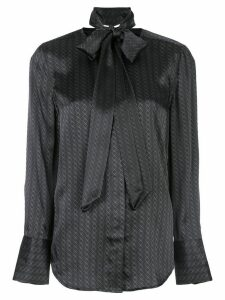 Equipment Luis geometric-print silk shirt - Black