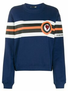 Love Moschino tricolour stripe sweatshirt - Blue