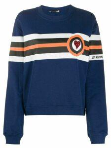 Love Moschino tricolour stripe sweatshirt - Blue