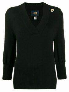 Cavalli Class v-neck jumper - Black