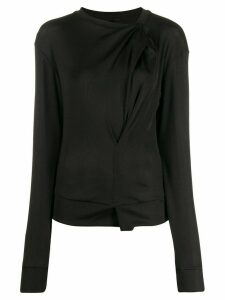 UNRAVEL PROJECT ruched hole detail jumper - Black