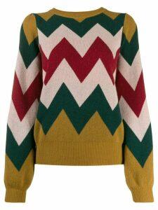 Guardaroba zig-zag pattern jumper - Red