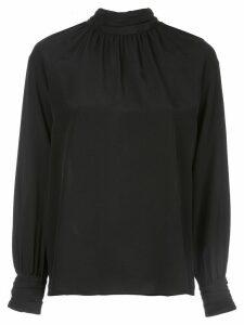 Nili Lotan Alana high-neck silk blouse - Black