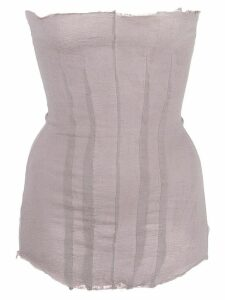 Marc Le Bihan frayed strapless top - PINK