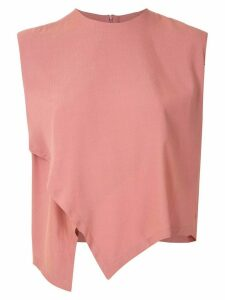 Osklen sleeveless wrap blouse - Pink