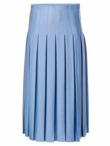 Victoria Beckham mid length pleated skirt - Blue