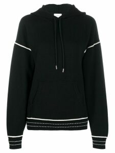 Barrie embroidered detail hoodie - Black