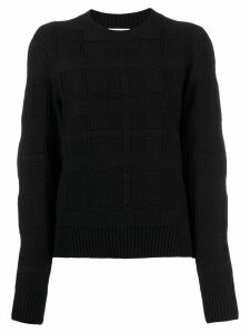 Barrie tartan pattern jumper - Black