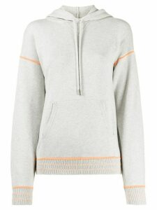 Barrie embroidered detail hoodie - Grey