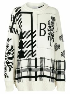 Barrie tartan pattern jumper - NEUTRALS