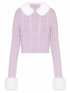 Miu Miu cashmere buttoned cardigan - Purple