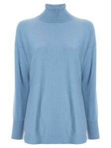 Le Ciel Bleu turtleneck knitted top - Blue