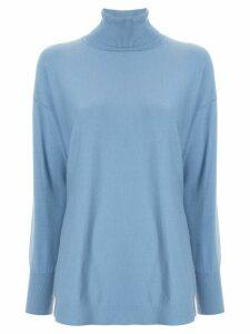 Le Ciel Bleu turtleneck knitted top - Blue