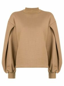 Le Ciel Bleu oversized-sleeve sweatshirt - Brown