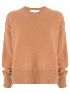 Le Ciel Bleu oversized crew-neck jumper - Brown
