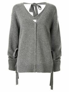 Le Ciel Bleu wrap-effect cardigan - Grey