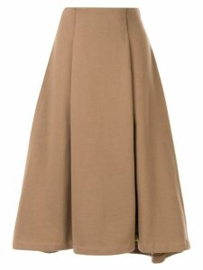 Le Ciel Bleu Jersey flared midi-skirt - Brown