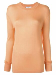 CK Calvin Klein lightweight silk top - ORANGE