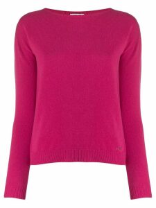 LIU JO crew-neck knit sweater - Pink