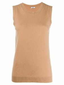 P.A.R.O.S.H. sleeveless knit tank top - Brown
