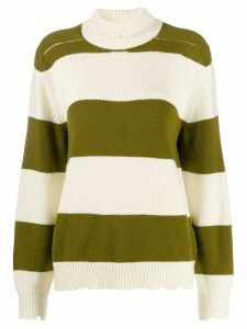 Riccardo Comi striped turtleneck jumper - White