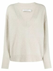 IRO ribbed V-neck sweater - NEUTRALS