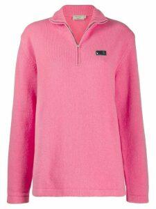 Maison Kitsuné zip front jumper - PINK