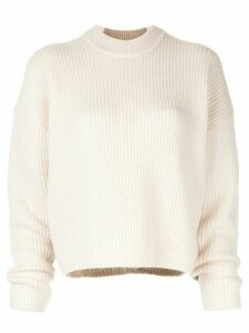 CK Calvin Klein long-sleeve fitted sweater - NEUTRALS