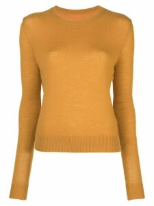 The Elder Statesman Tranquility crew neck sweater - Yellow