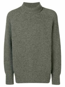 Ami Paris Rib Turtleneck Jumper - Grey