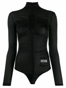 Versace Jeans Couture ruched roll-neck body - Black