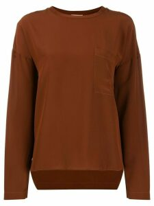 Nude long sleeve top - Brown