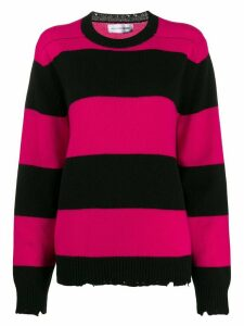 Riccardo Comi striped jumper - Black