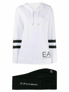 Ea7 Emporio Armani two tone hoodie - White