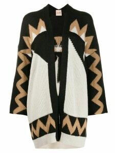 Nude Aztec pattern knit cardigan - Black