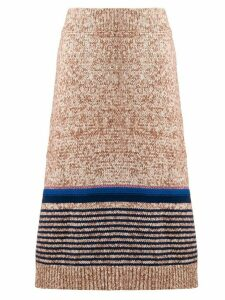 See by Chloé textured knit midi skirt - Brown