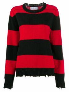 Riccardo Comi striped jumper - Red